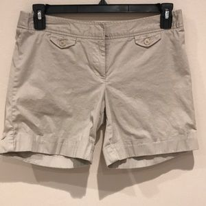 The Limited Khaki Colored Cuffed Shorts